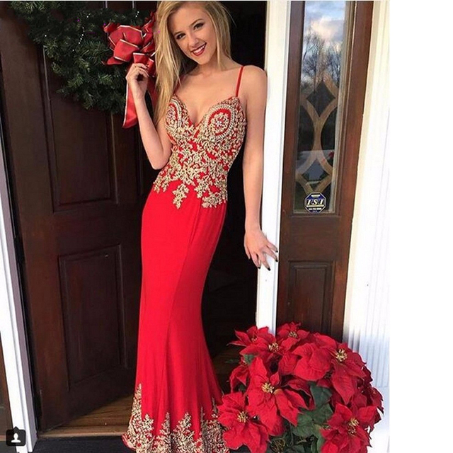 Red Mermaid Gowns