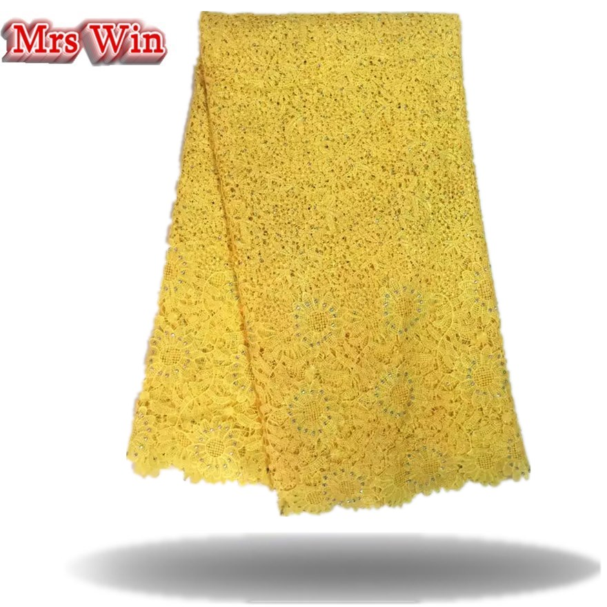 2018 Hot Sales High Quality African Chemical Lace Fabric Water Soluble Colorful Nigerian Guipure Wedding African Lace Fabrics