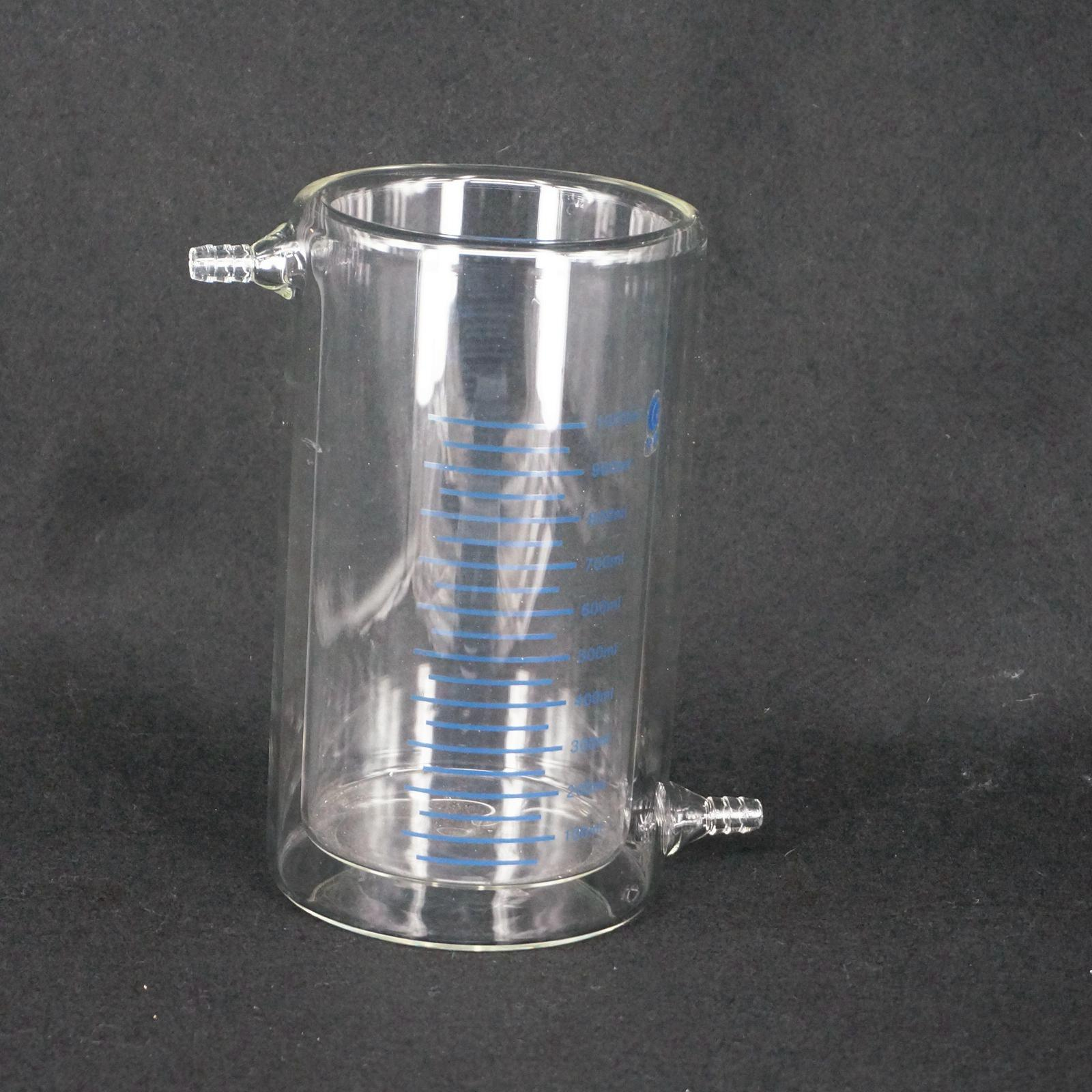 1000ml Laboratory Jacketed Borosilicate Glass Beaker Double Layer Beaker for Photocatalytic Experiment FREE SHIP 300mm 24 29 joint borosilicate glass jacket allihn bulb condenser distillation for laboratory