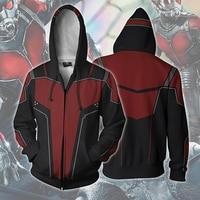 2018 New 3D Hoodies Print Avengers Infinity War Deadpool2 Ant Man Cosplay Costume Hoodies Sweatshirt Unisex Casual Zipper Top