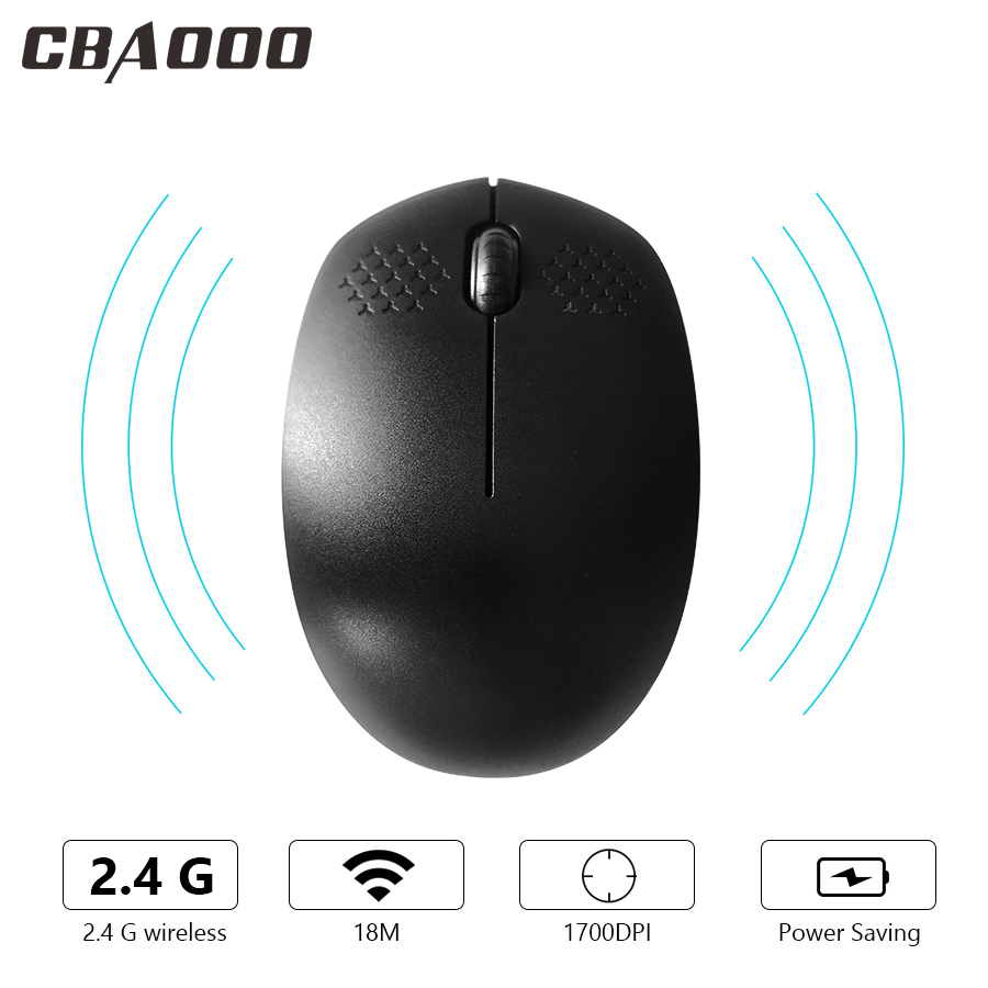 CBAOOO Wireless Gaming Mouse Bluetooth Mouse Noiseless 2.4GH 1600 DPI Silent Mute Mouse For Computer PC Laptop