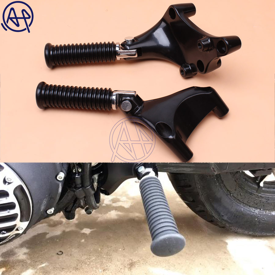 1set Motorcycle Footrest Passenger Rear Foot Pegs Stiletto Footpegs With Mounting For Harley Sportster XL 883 883R 883C 883L