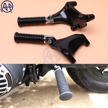купить 1set Motorcycle Footrest Passenger Rear Foot Pegs Stiletto Footpegs With Mounting For Harley Sportster XL 883 883R 883C 883L онлайн
