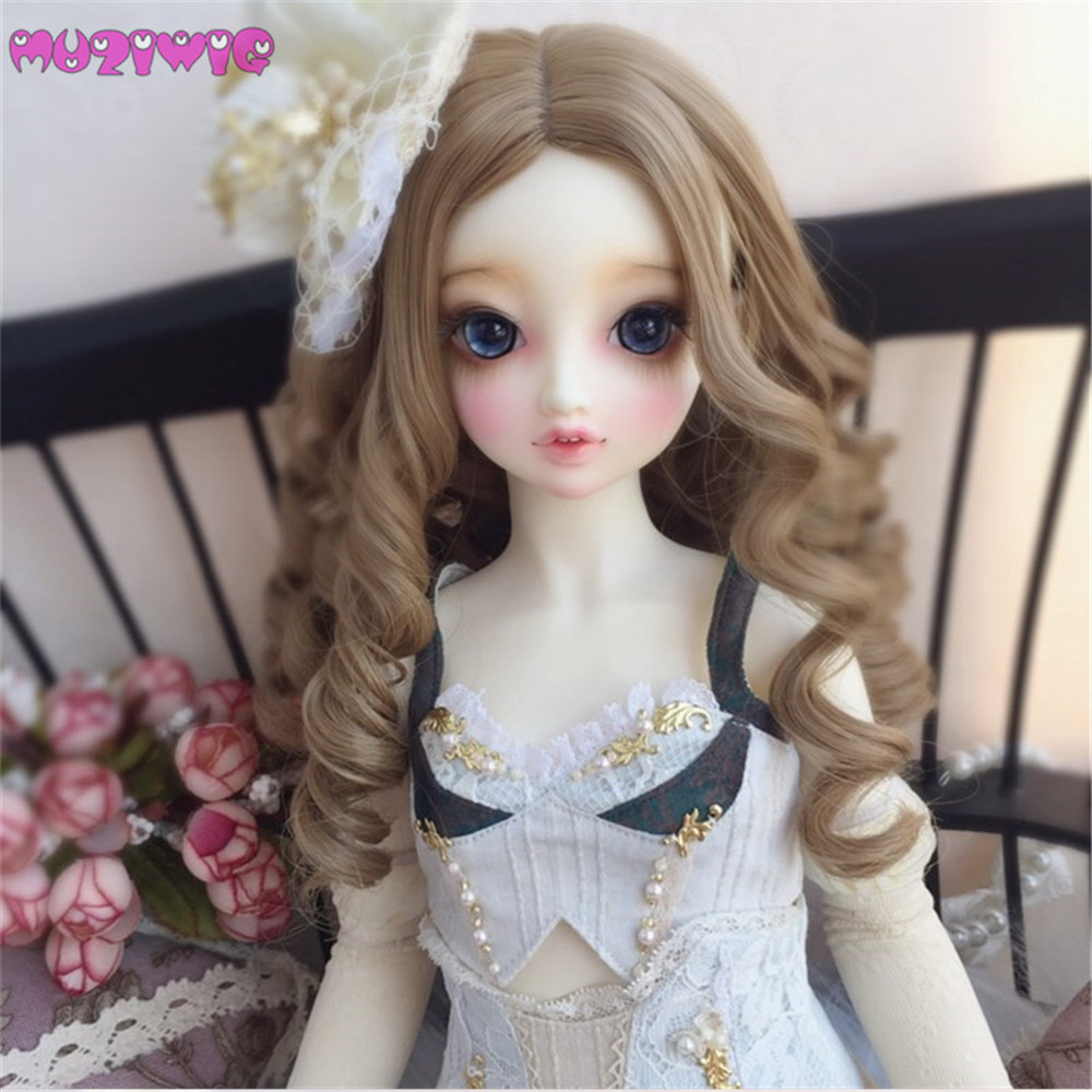 New Arrival MUZIWIG High Temperature Fiber Long Curly Doll Wigs For 1/3 1/4 1/6 BJD Dolls