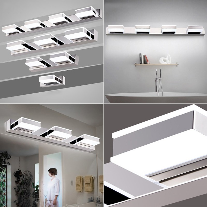 Morden 3W 12W Anti fog Waterproof Acrylic Led Mirror Light Bathroom Wall Lamp Brief Individuality Make-up Mirror Cabinet Lamp
