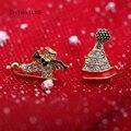 Асимметричная шляпа обувь серьги Рождество классический Сплав Полировки ручной золото Push-обратно серьги симпатичные диких подарок для подруги