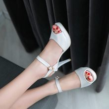Big Size 11 12 13 14 15 ladies summer platform sandals women shoes woman open-toed The fish's mouth cingulat High-heeled sandals(China)