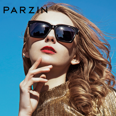 PARZIN Brand Winter New Polarized Sunglasses Men and Women Fashion Large Square Frame Driving sunglasses With Original Box9673 Pakistan