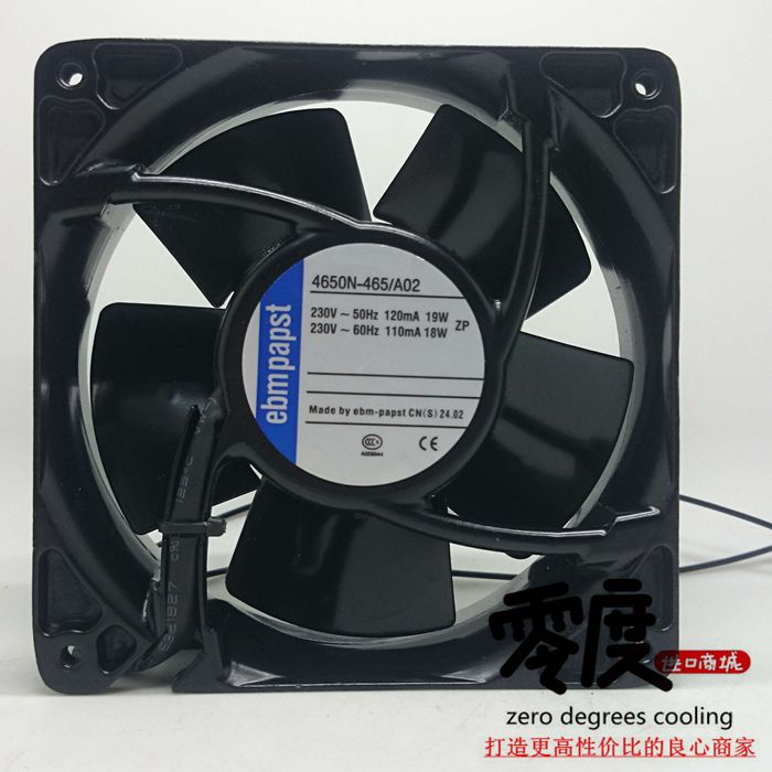 New Original EBM PAPST 4650N-465 A02 AC230V 120*120*38MM heat resistant cooling fan new original ebm papst w2s130 aa03 71 ac230v 45w 150 55mm cooling fan