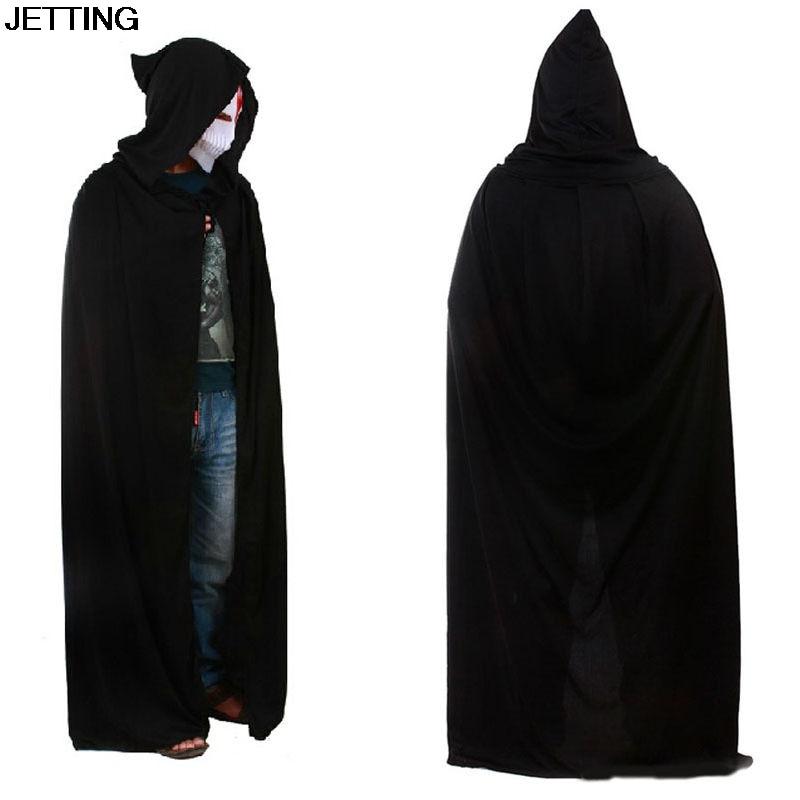1 pcs Black Halloween Costume Theater Prop Death Hoody Cloak Devil Long Tippet Cape