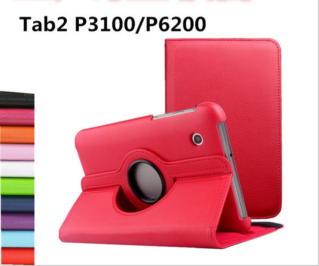 """new hotsell 11 Colors 360 Rotating Folio PU Leather Case Cover for Samsung Galaxy Tab 2 7 """"GT-P3100 / P3110 / P6200 / P6210"""