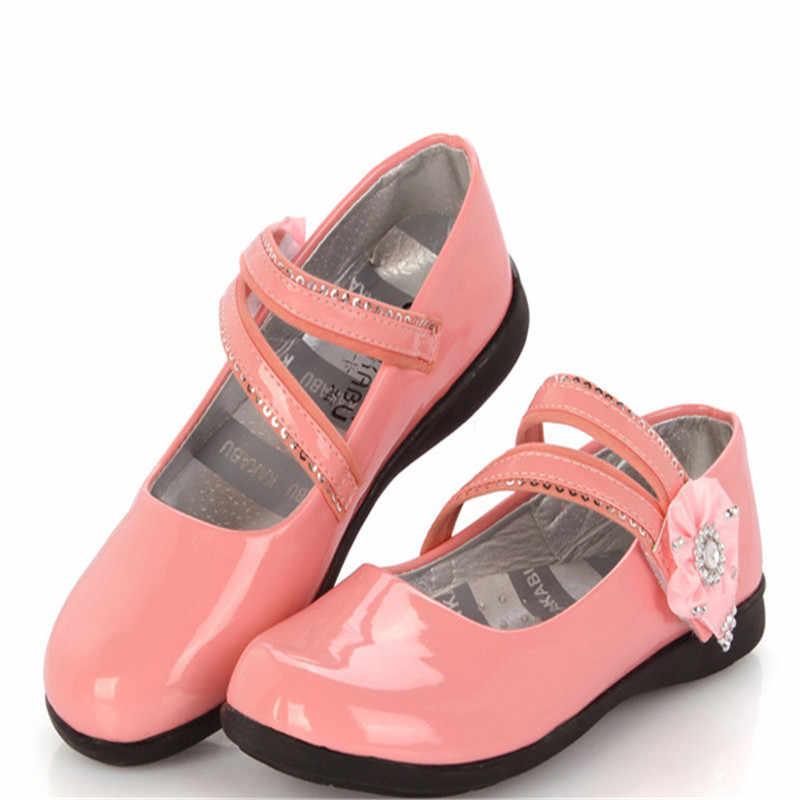 Hot Girls Scarpe di Cuoio Classic Solid Buona Qualità del Marchio Principessa Scarpe Per Bambini Per Le Ragazze Adolescenti Più Grande Formato 26-38