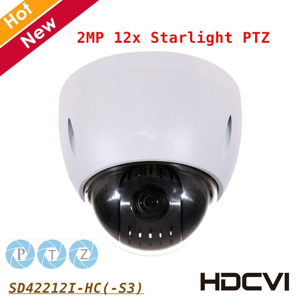 DH 2MP STARVIS Cmos PTZ Camera SD42212I-HC 2MP 12*Starlight PTZ HDCVI Camera Powerful 12 x optical zoom IP66 for outdoor cctv security sd6c225i hc 2mp 25x starlight ir 150m 4 8 120mm ptz hdcvi camera