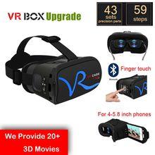 2016 VR Box II 2.0 upgrade bluetooth virtual reality 3d Glasses headset RKA1 Google Cardboard for iphone 4-5.8 inch smartphone