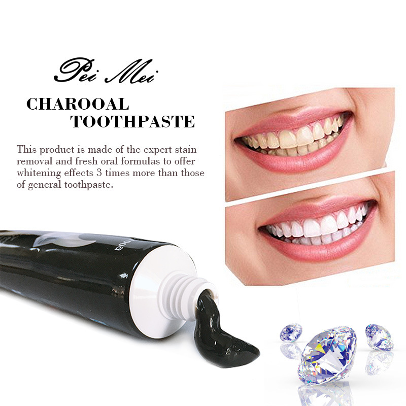 3pcs 100g Charcoal Teeth Whitening Toothpaste Destroys Bad Breath