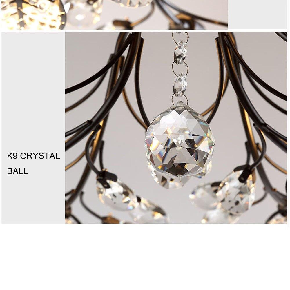 HTB1oIPPeA.HL1JjSZFlq6yiRFXat Modern Flush Mount Home Gold Black LED K9 Crystal Ceiling Chandelier Lights Fixture for Living Room Bedroom Kitchen Lamps