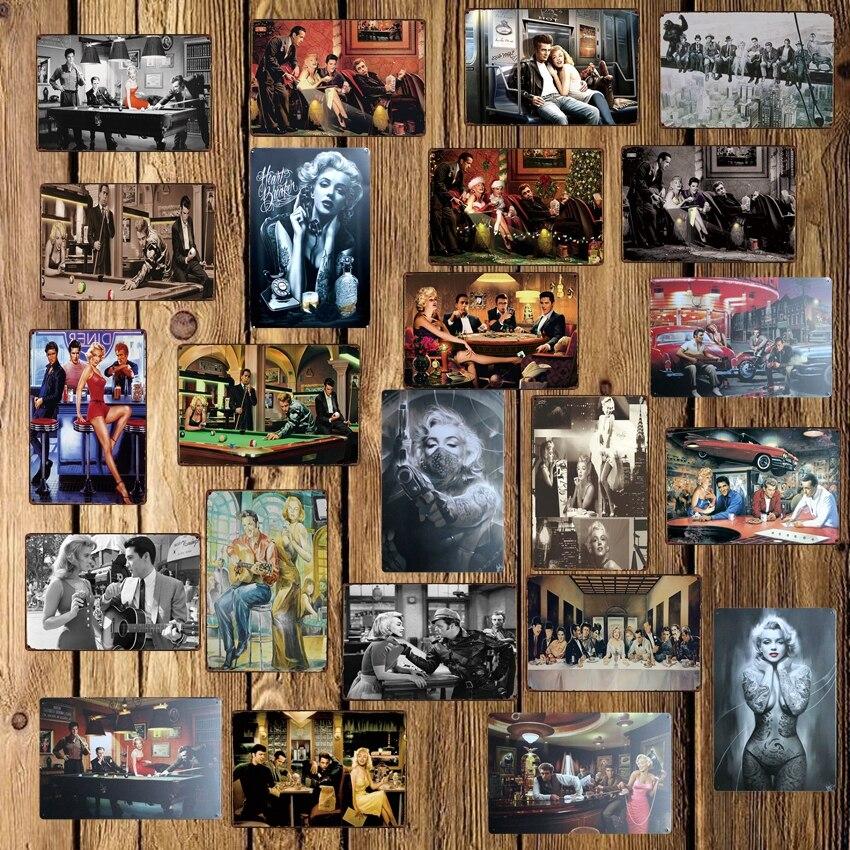 [Mike86] star металлический знак Винтаж стойка для домашних пабов и баров магазин ретро росписи железа живопись на холсте художественная 20*30 см ...