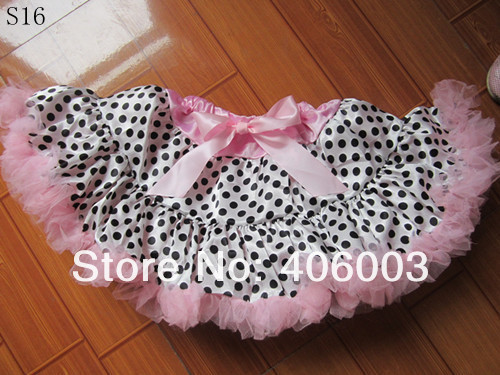 free shipping baby girls red and black polka dot party pettiskirt infant toddler halloween tutu petticoat