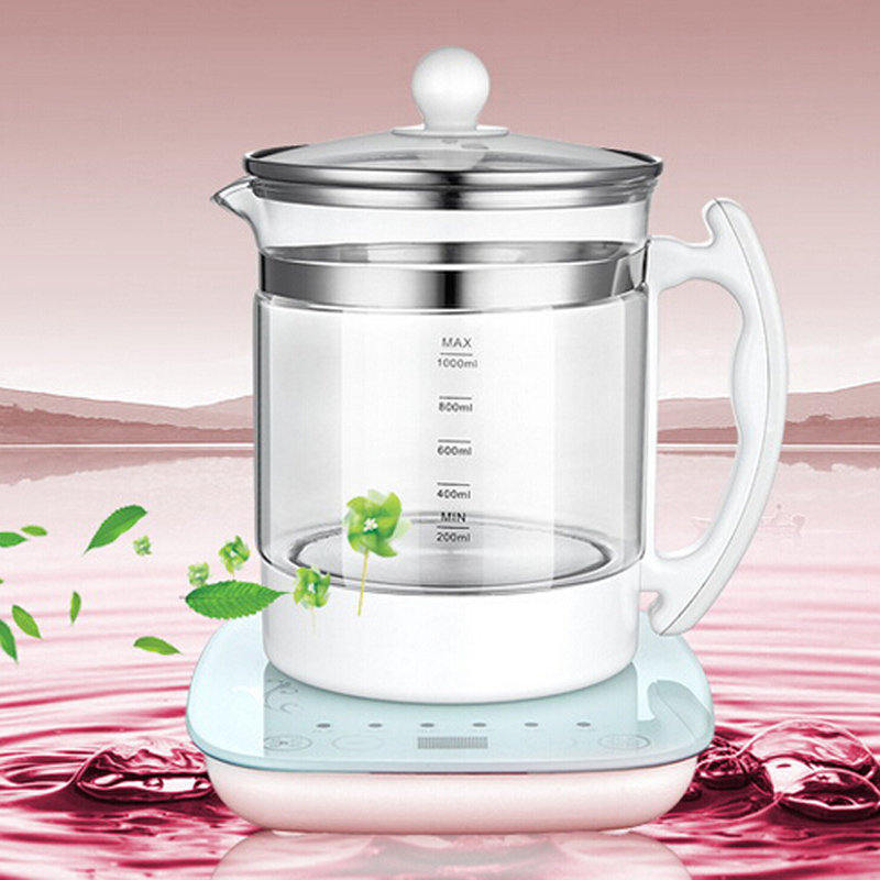 VOSOCO Electric kettle Boil water Multi-function High boron silicon glass Health electric kettle tea pot Stew Boiled Scented tea 220v household electric pot convenient electric cooker 1l capacity electric skillet multi function steam stew kitchen tool