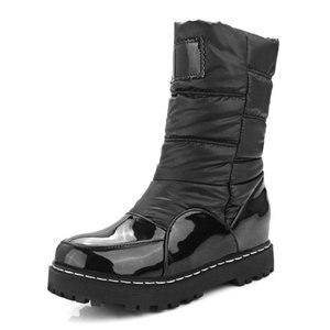 Image 2 - Taoffen nowa zimowa kobieta matka buty antypoślizgowe wodoodporne buty ocieplane bawełną kobiety macierzyństwo pluszowe śniegowce rozmiar 33 43