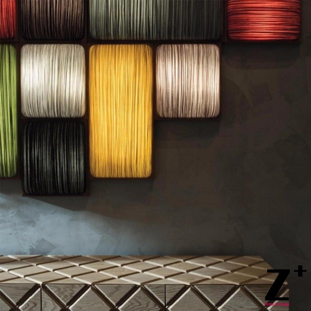 Новый Стиль Современный Стиль Реплика пункт aqua площади Ткань абажур с деревянной Рамки светодиодный настенный светильник
