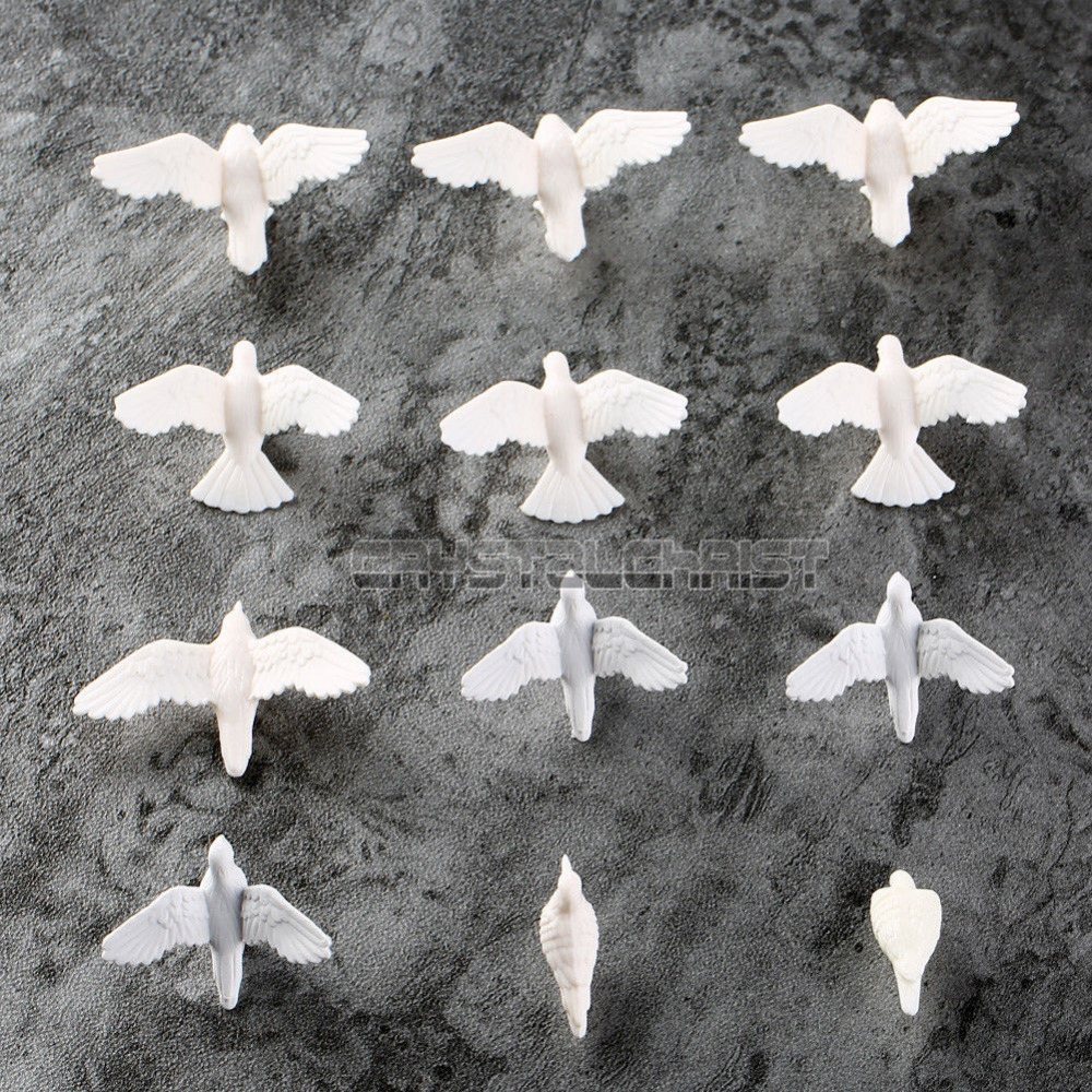 20pcs Plastic Birds Small Figure Toy Pigeon Dove Bird Of Peace Scenery Layout Free Shipping