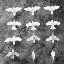 20pcs Plastic Dove Birds of Peace Scenery Layout