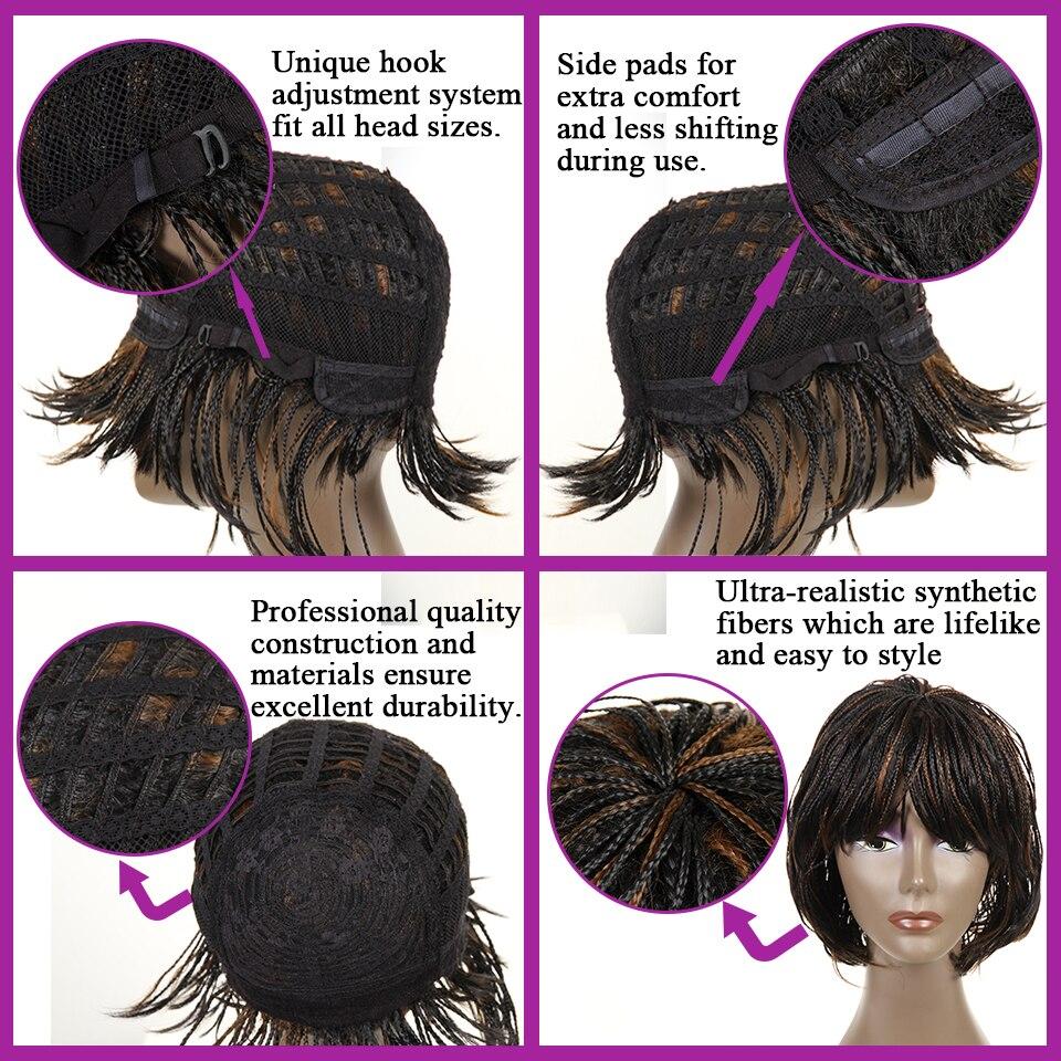 Feibin Box Crochet Braiding Hair Wig Afrikansk Syntetisk Senegalese - Syntetiskt hår - Foto 6