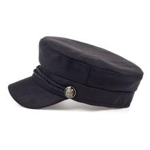 Fashion Blank Black High Quality Newsboy Caps for Women Spring Autumn Winter Hats Felt Cap