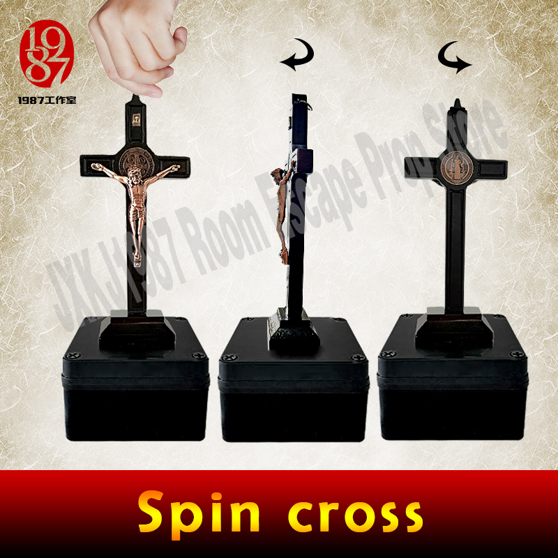 Escape game prop spin cross prop room escape adventure game spin decorative spin cross t ...