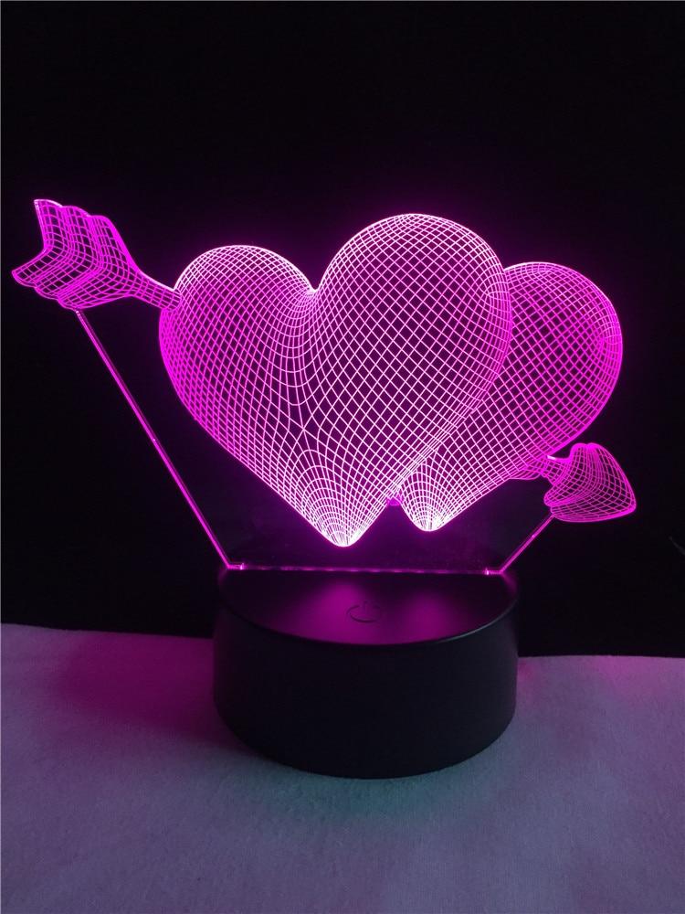 Luzes da Noite 3d lâmpada seta através do Function 4 : Lampada Led/lamparas/led Lamp Indoor