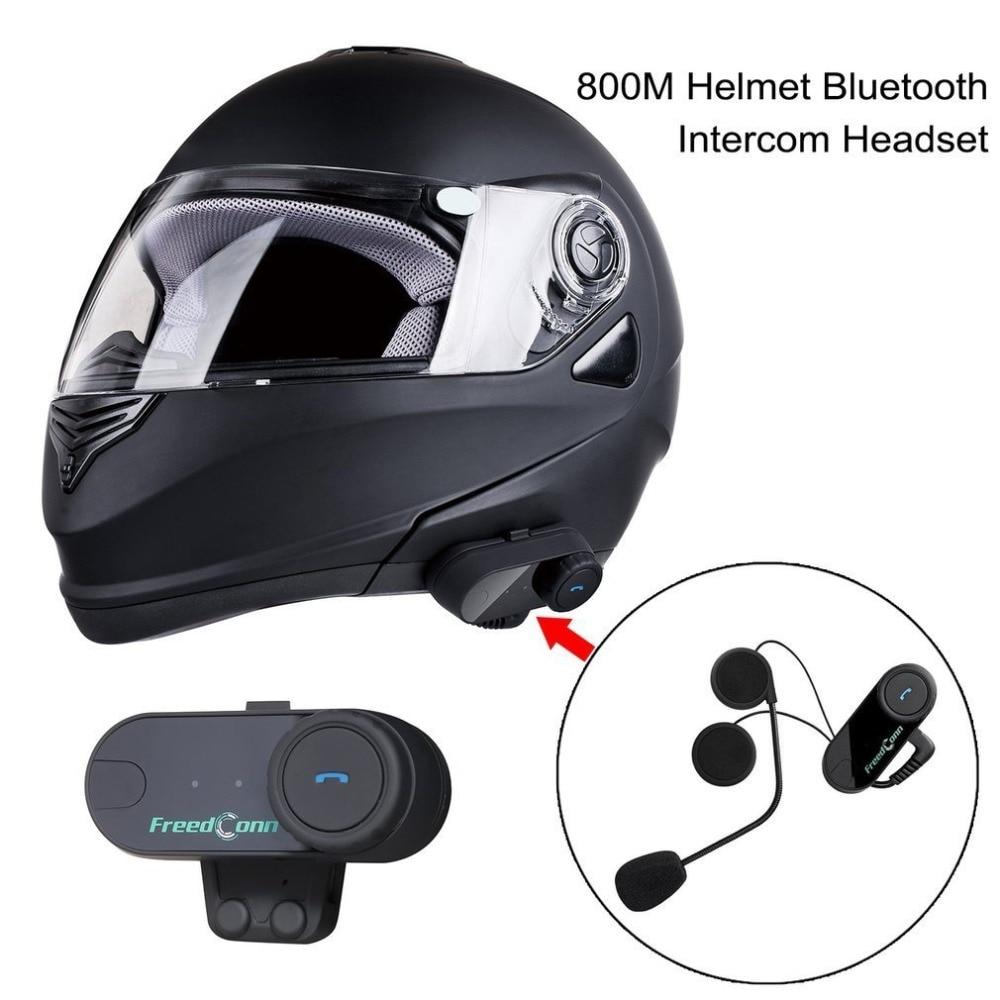 New US Plug 800M Professional Intercom Headset Wireless Interphone Bluetooth Motorbike Motorcycle Helmet Interphone Headset