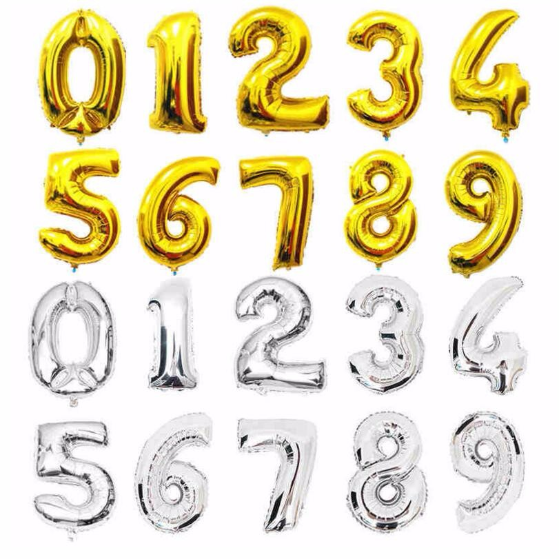 ROSE GOLD Number Foil Balloons 32 inch Digit AIR Ballons Birthday Party Decor UK