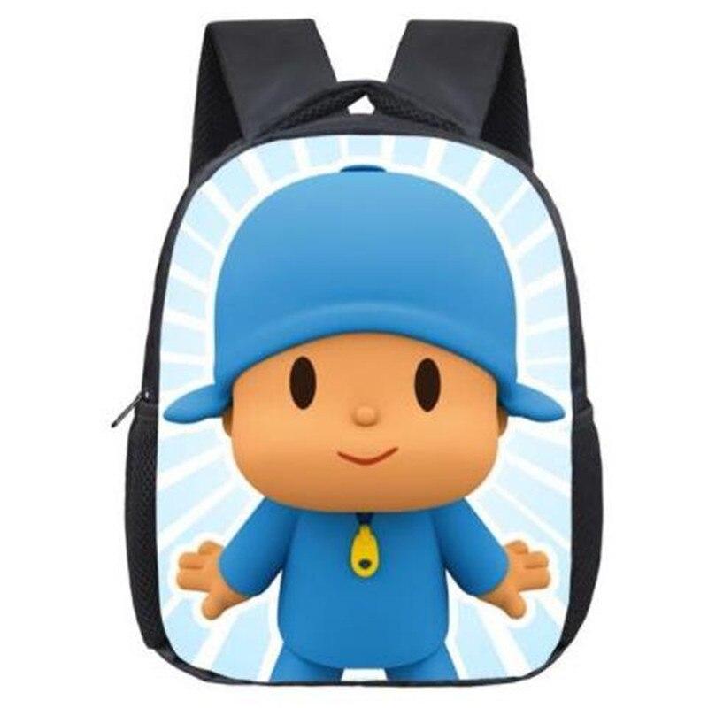 12 Inch POCOYO Elly Pato Loula Kindergarten Backpack Boys Girls Children School Bags Baby Toddler Bag Kids Best Gift Backpack