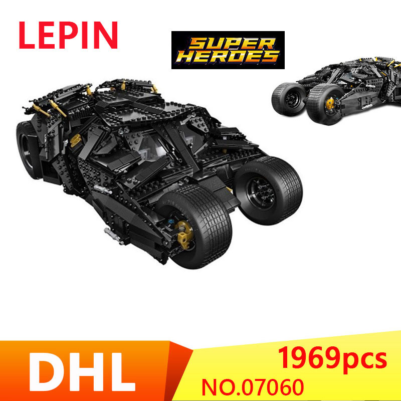 LEPIN 07060 NEW Super Hero Movie Series 1969Pcs The Batman Armored Chariot Set 76023 Building Block For Kids Bricks Toys new 1628pcs lepin 07055 genuine series batman movie arkham asylum building blocks bricks toys with 70912 puzzele gift for kids