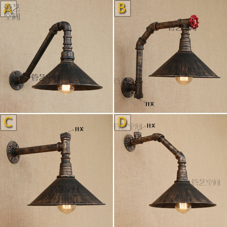 Retro loft rope water pipe wall lamp light stair corridor aisle bedroom living room restaurant pub cafe lamp wall sconce bra nordic retro loft lamps clain necklace lights cafe restaurant bar pub living room dining room club pub aisle stair hall lamp