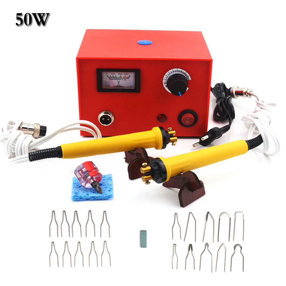 25W/50W Adjustable Temperature Wood Burner Pyrography Pen Burning Machine Gourd Crafts Tool Set EU Plug Electric Iron