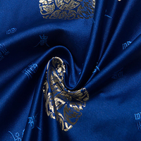 HLQON France Imported Jacquard Elegant Blue Satin Fabric Telas Patchwork Cotton Fashion Fabric Sewing Felt Tela