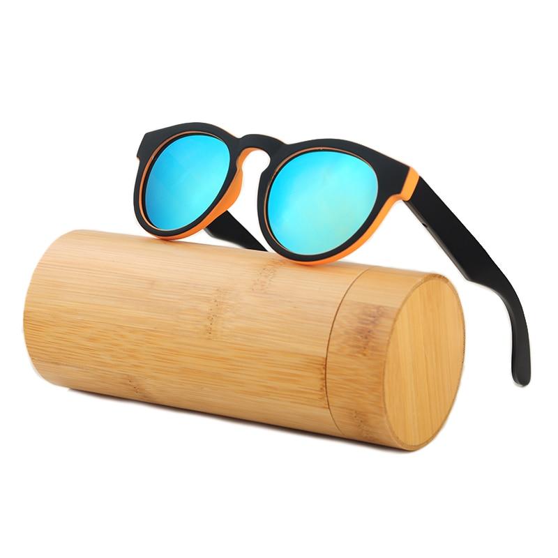 LONSY Handmade Putaran Bambu Sunglasses Wanita Kacamata Kayu Pria - Aksesori pakaian - Foto 3
