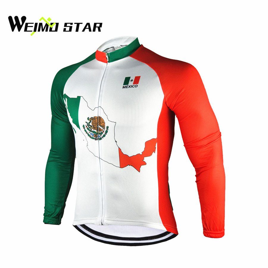 Cycling Clothing Us 16 99 50 Off Mexico Cycling Jersey Long Sleeve Weimostar Men Cycling Clothing Bike Bicycle Team Outdoor Breathable Ropa Ciclismo Top S Xxxl In