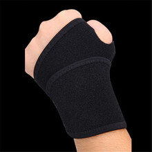 Qualuity carpal wraps brace wrist bandage pain guard band blue support