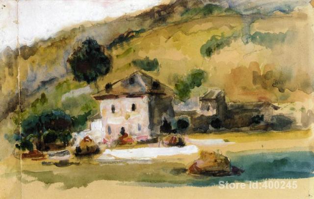 Superior Peintures Célèbres De Paul Cezanne Près Du0027aix En Provence Art Décoratif  Fait Main De