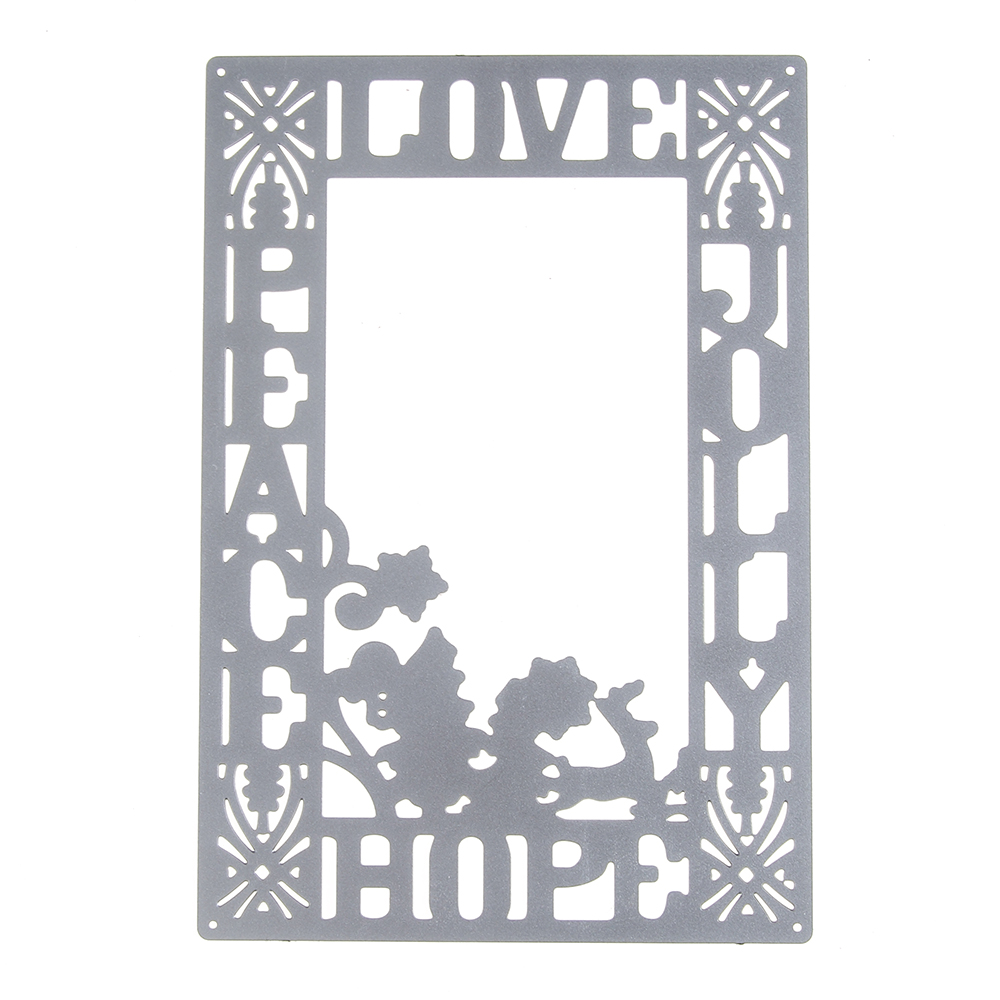 130*90mm scrapbooking DIY Corner love hopeframe Shape Metal steel cutting die flower Shape Book photo album art card Dies Cut