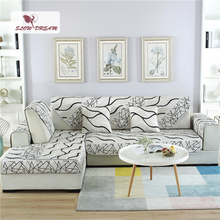 Slowdream Sofa Cover Luxury Euro Fabric Jacquard Geometric Nordic Living Room Corner Single Double Sizes Slipcover