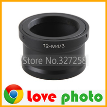 Cheap price Black aluminium Adapter Ring for Telescope T2 T-Mount Lens for Panasonic Olympus Micro 4/3 M43 Mount Camera Free Shipping
