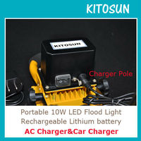 KITOSUN Super Bright High Quality Rechargeable Lithium Battery Operated 10W Rechargeable Emergency Light