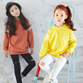 Spring And Autumn New Girls Casual Sweater Long Section Of Children's Bottoming Shirt Top 100% Cotton Super Soft Sweater Blouse
