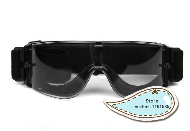 Prix pour Transparent USMC Airsoft X800 vent poussière Protection tactique lunettes lunettes Sports de plein air