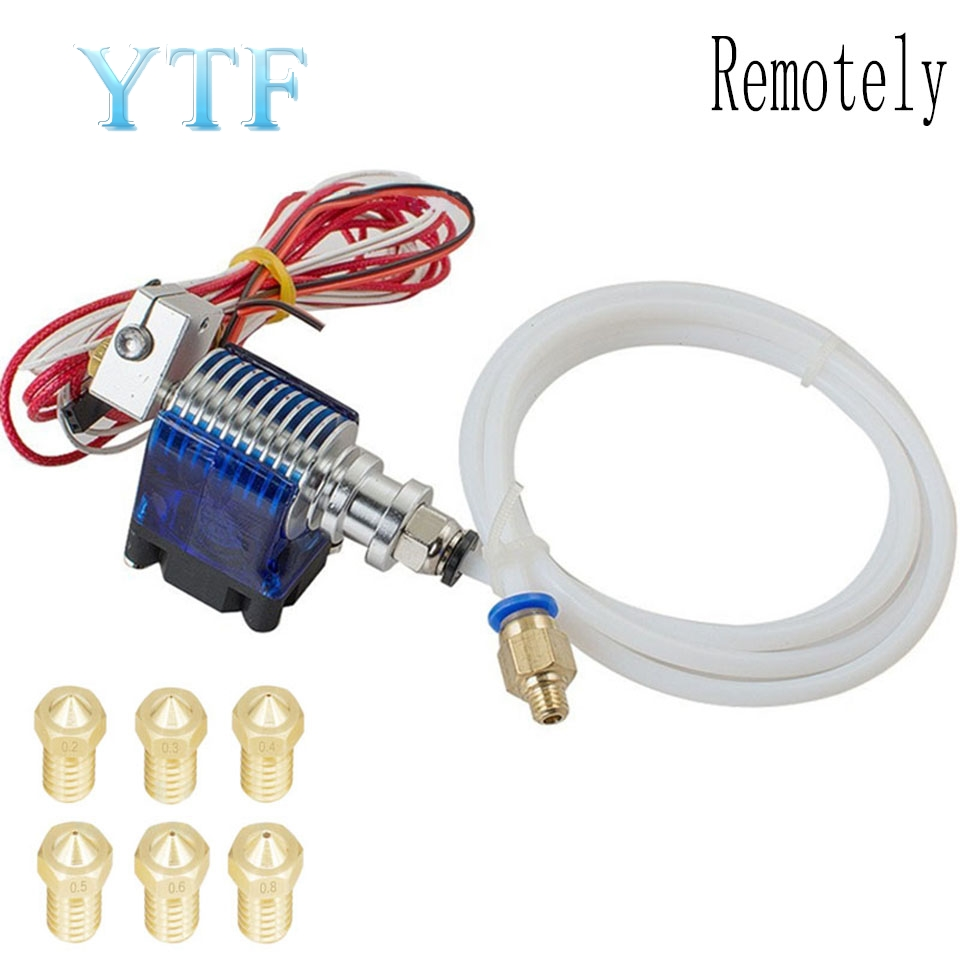 V6 Extruder Kit J-head Metal Extruder 3D Printer Case With Fan Cover PTFE 0.2-08mm,1.75mm 3mm