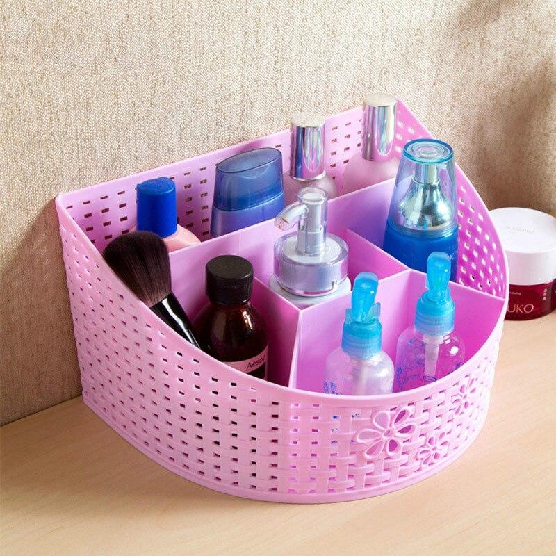 5 grid drawer divider storage plastic box makeup organizer office deskremote control home storage cheap office drawers